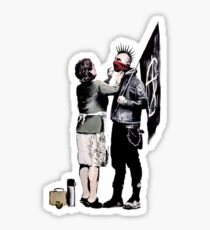 Banksy - Anarchist And Mother Sticker