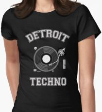 Detroit Techno Women's Fitted T-Shirt