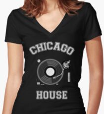 Chicago House Women's Fitted V-Neck T-Shirt