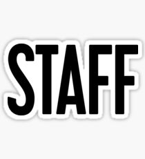 STAFF - Purpose Tour Justin Bieber Sticker