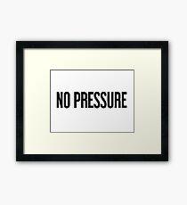 No Pressure - Justin Bieber Framed Print