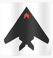 Stealth Bomber Icon Poster