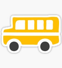 Yellow School Bus Icon Sticker