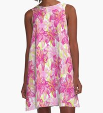 lily flowers pattern  A-Line Dress
