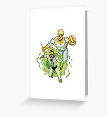Bulletproof Kid and Wormhole Greeting Card