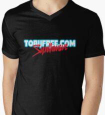 Synthwave Logo Template T-Shirt mit V-Ausschnitt für Männer