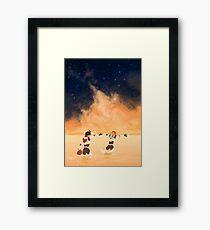 Orange Sea - Klance Framed Print