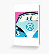 VW Campervan Greeting Card