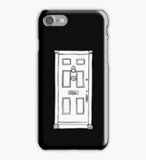 221b Baker Street Door - Monochrome iPhone Case/Skin