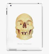 Crâne homme - homo sapiens iPad Case/Skin