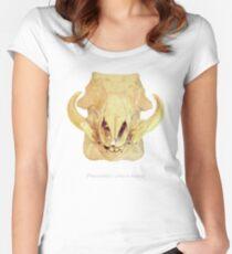 Crâne phacochère - phacochoerus Women's Fitted Scoop T-Shirt