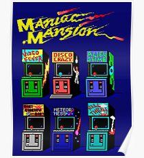 MANIAC MANSION ARCADE ROOM Poster