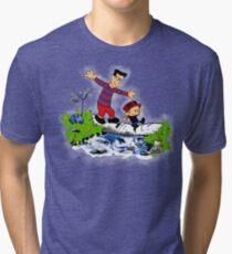 Little Viking and Strong Man Tri-blend T-Shirt