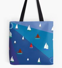 Dinghy sailing boats Tote Bag
