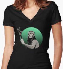 Jaco Pastorius Women's Fitted V-Neck T-Shirt