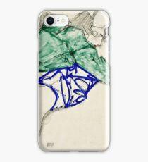 Egon Schiele -Two Friends, Reclining (Tenderness)  iPhone Case/Skin