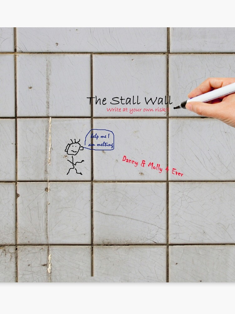 The Stall Wall Create Your Own Bathroom Graffiti On Gray Tile