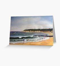Point Lonsadle front beach Victoria Australia Greeting Card