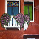 Colorful windows of Venice Acrylic Painting by Melissa Renee