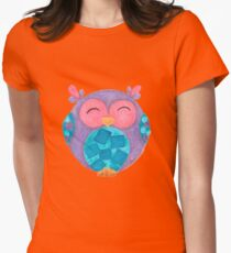 Hutch a happy little owl Womens Fitted T-Shirt