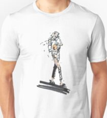 Fashion woman in sketch style with markers T-Shirt