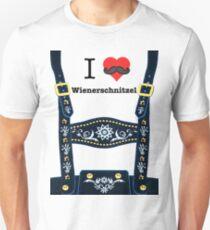 Lederhosen - Blue Slim Fit T-Shirt
