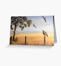 Birds of Prey, Outback Australia Greeting Card