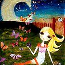 Mixed Media Girl Zodiac Virgo by Laura Bell