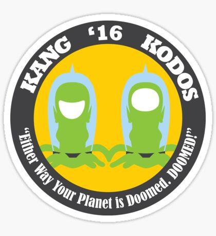 Vote Kang - Kodos '16 — Sticker Sticker