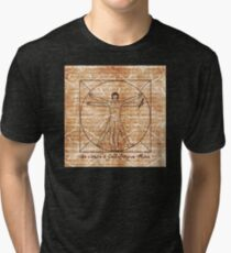 da vinci's Gallifreyan Man Tri-blend T-Shirt