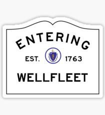 Entering Wellfleet - Commonwealth of Massachusetts Road Sign Sticker