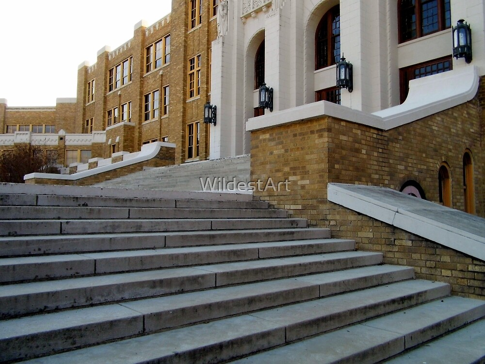 Stairs Of Central High by WildestArt