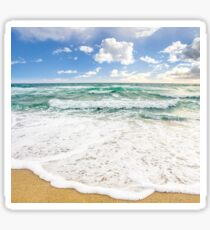 sea ​​waves breaking on the sandy beach Sticker