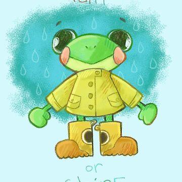 Cute Raincoat Frog by arcadechan