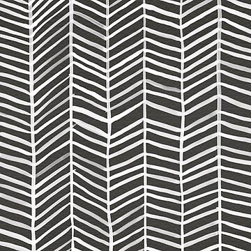 Herringbone – Black & White by catcoq
