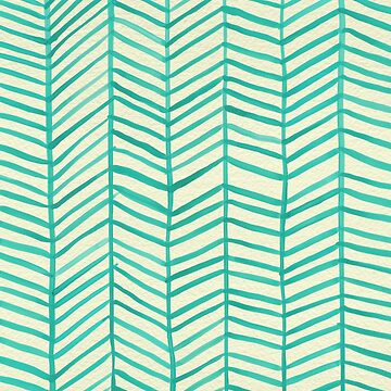 Mint Herringbone by catcoq