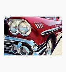 Bright Lights Classic Chrome Photo Photographic Print