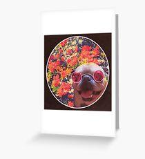 Happy Yin and Yang Pug  Greeting Card