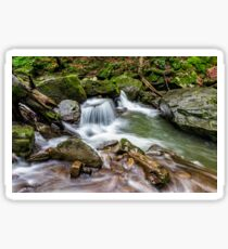 small cascade on the river among bouders Sticker
