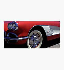 Fast Lines 1960 Classic Red Chevy Corvette Photo  Photographic Print