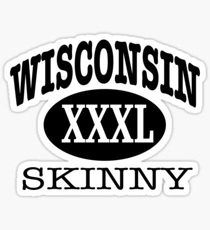 Wisconsin Skinny XXXL Athletic Sticker