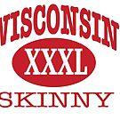 Wisconsin Skinny XXL Athletic RED by wisconsinskinny