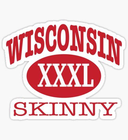 Wisconsin Skinny XXL Athletic RED Sticker