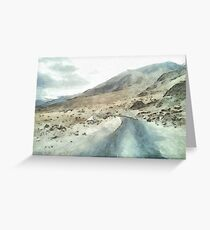 Dirt road in the Himalayas Greeting Card
