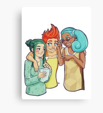 Poke-Girls Starters Canvas Print