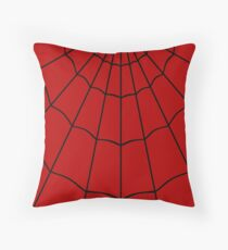 Spider Web - Red Throw Pillow