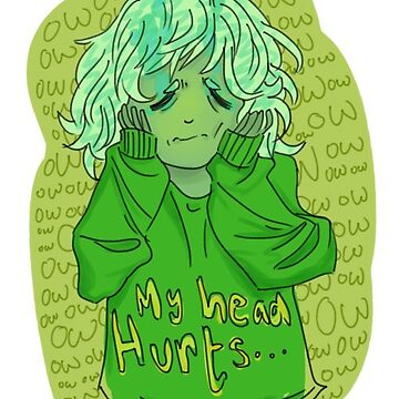 My Head Hurts Sticker by arcadechan