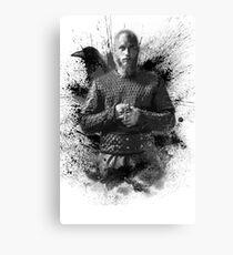 Ragnar Lothbrok b&w Canvas Print