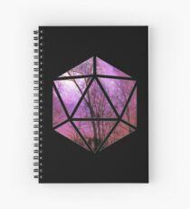 Cuaderno de espiral Árboles púrpuras d20