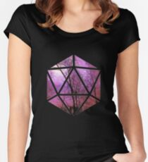 Purple trees d20 Women's Fitted Scoop T-Shirt